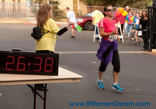 Crossing the finish line - sooner than I thought!