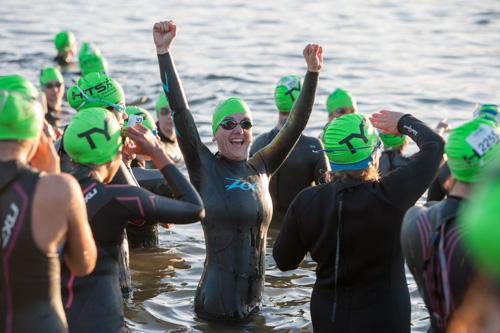 heather sprint triathlon swim