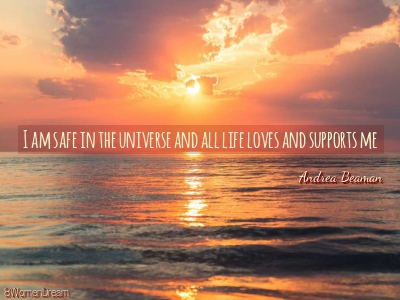 Andrea Beaman I am safe quote