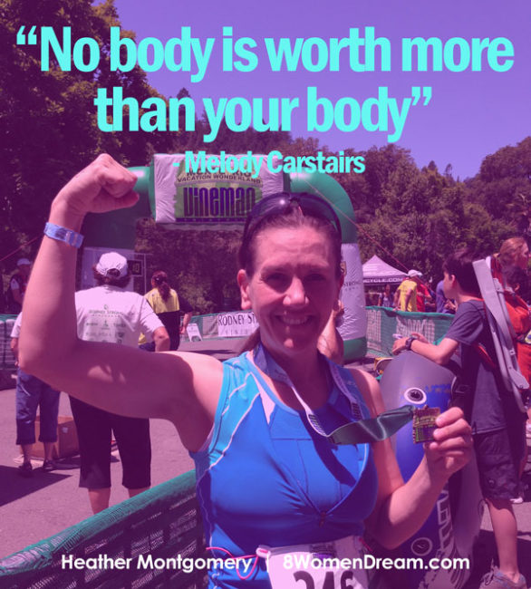 No body is worth more than your body - image quote - Get Fit Heather Montgomery