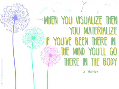 Using the Law of Attraction - Visualization quote