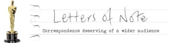 Best Adapted Screenplay Blog: Letters of Note