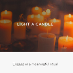 Inspirational Website: Light a candle online