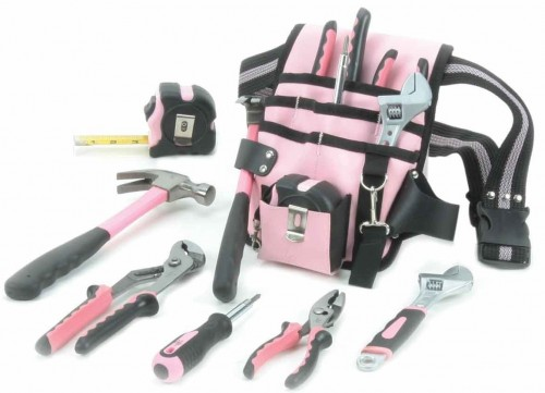 Is Dream Maintenance Boring to you?: Maintenance tools Little Pink® Tool Pouch & Belt Kit buy at Amazon