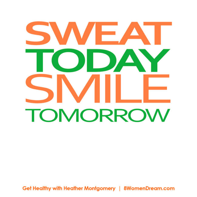 Motivational fitness photo quotes - Sweat today smile tomorrow