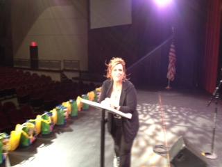 motivational speaker on stage