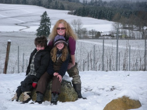 When Living the American Dream Heeds The Call of the Wild - Snow in Willamette Valley Vineyards