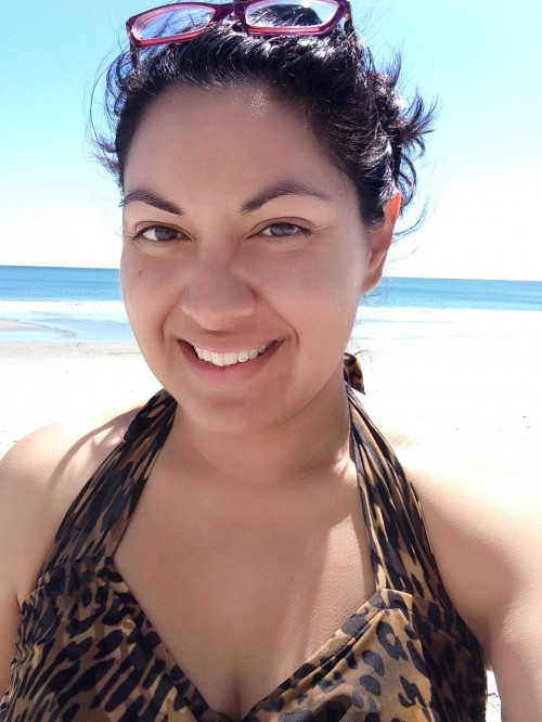 Getting a phone camera to meter for my face and also capture the beach behind me took some trial and error. But here I am. IN A BATHING SUIT. IN PUBLIC. That HAD to be captured for posterity.
