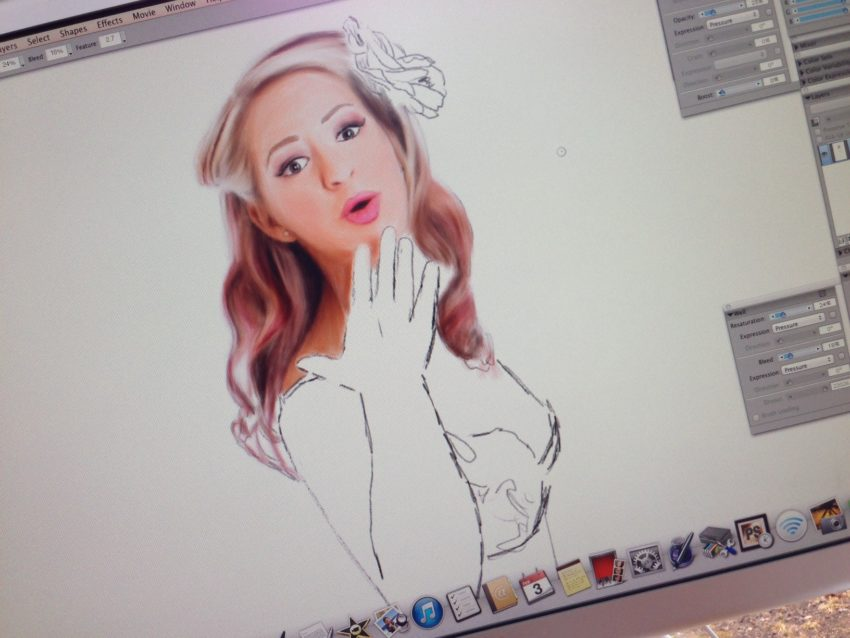 Pinup Painting in Progress