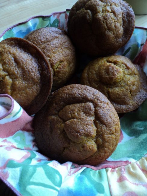 Dream Day by Caring for a Baby: Pumpkin ginger blood orange olive oil muffins