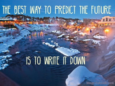Dream Goal Setting: Write a Letter to Your Future Self--Quote about the future