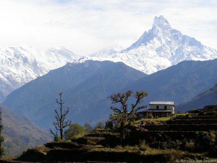 Top 8 Spiritual Travel Destinations for Christmas: Annapurna Base Camp route in Nepal