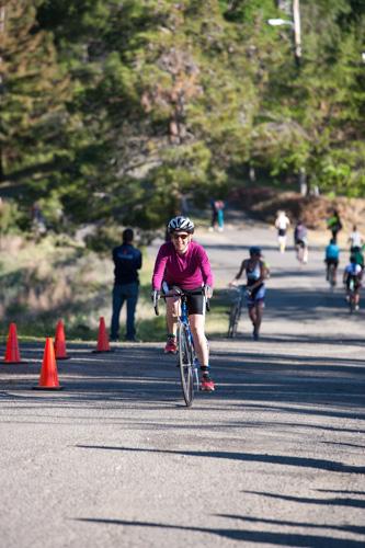 sprint triathlon heather finishing bike section