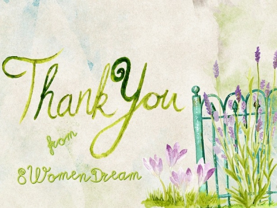 Thank you gift from 8WomenDream