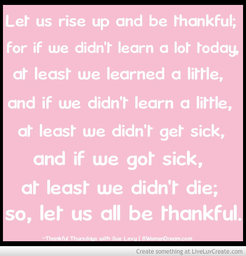 Thankful Thursday: Thankful quote by Buddha