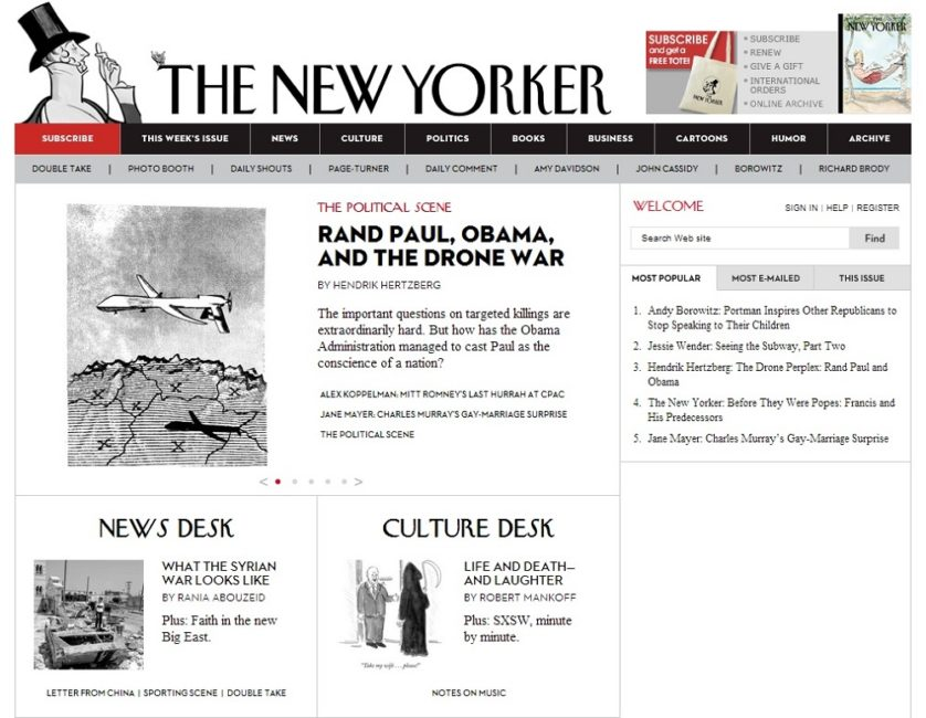 Key to Online Success: The New Yorker