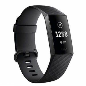 Top Entrepreneur Gifts: Fitbit Charge 3 Fitness Activity Tracker, Graphite/Black, One Size on Amazon