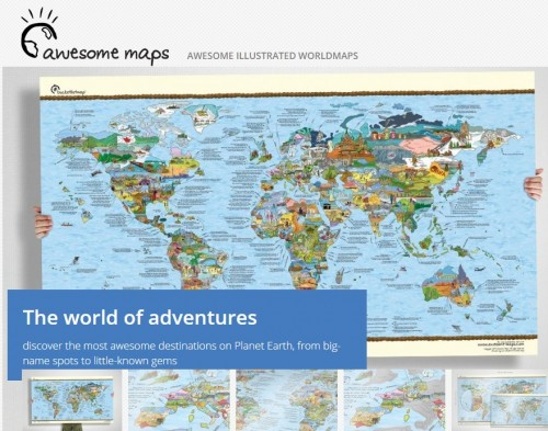 For People Who Want to Live the World Travel Dream But Can't Get Started: Travel bucket list maps for travel dreamers