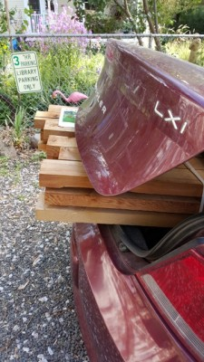 After Divorce:The Lumber for my garden project
