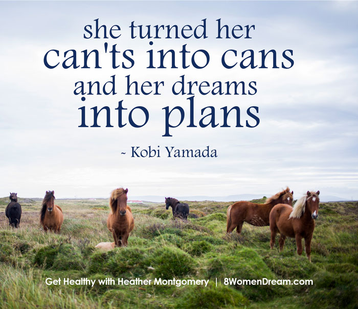 image quote: turn her dreams into plans