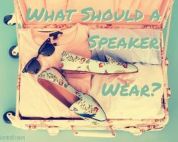 What Should a Speaker Wear On Stage?